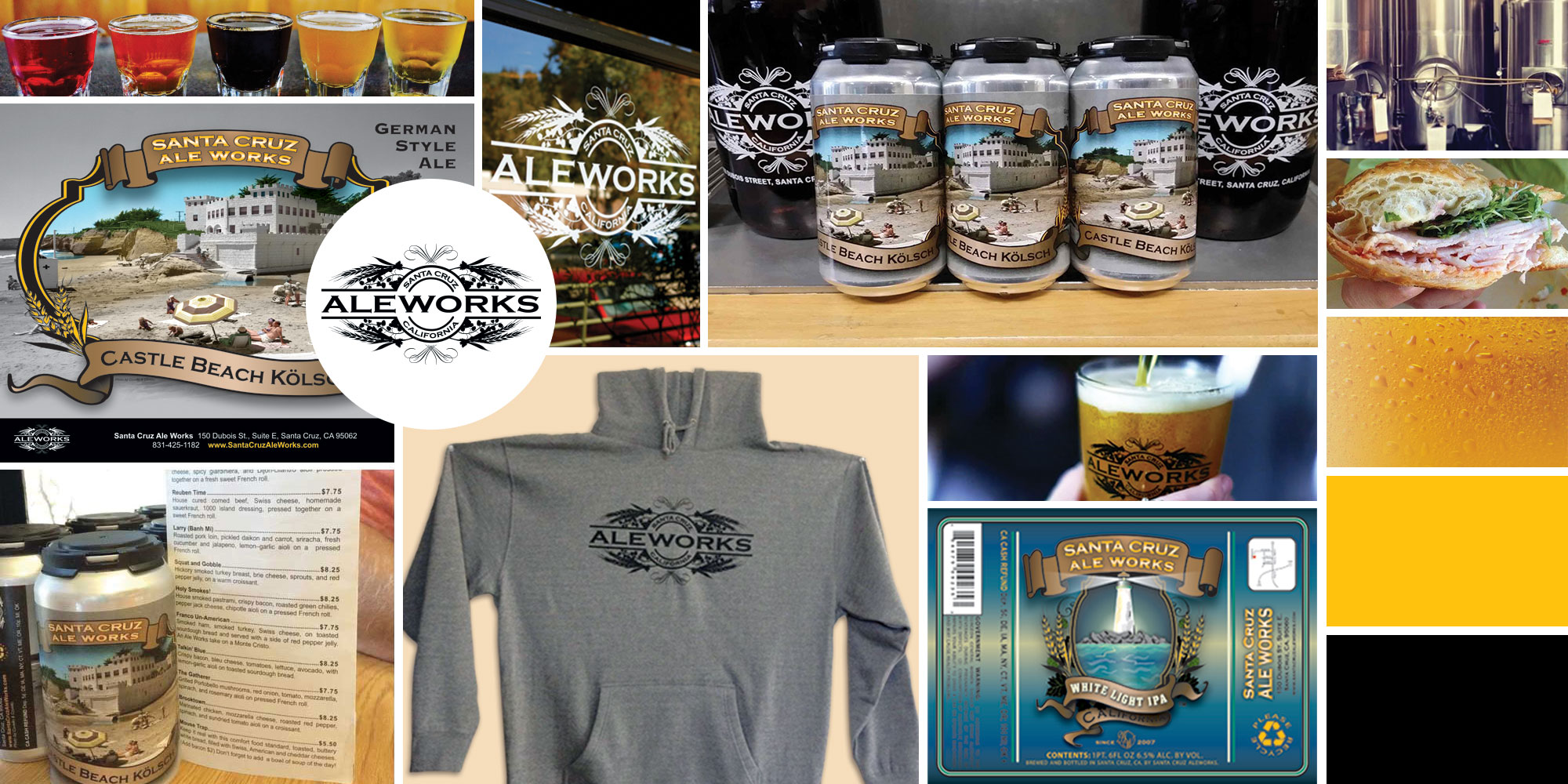 Santa Cruz Aleworks project collage