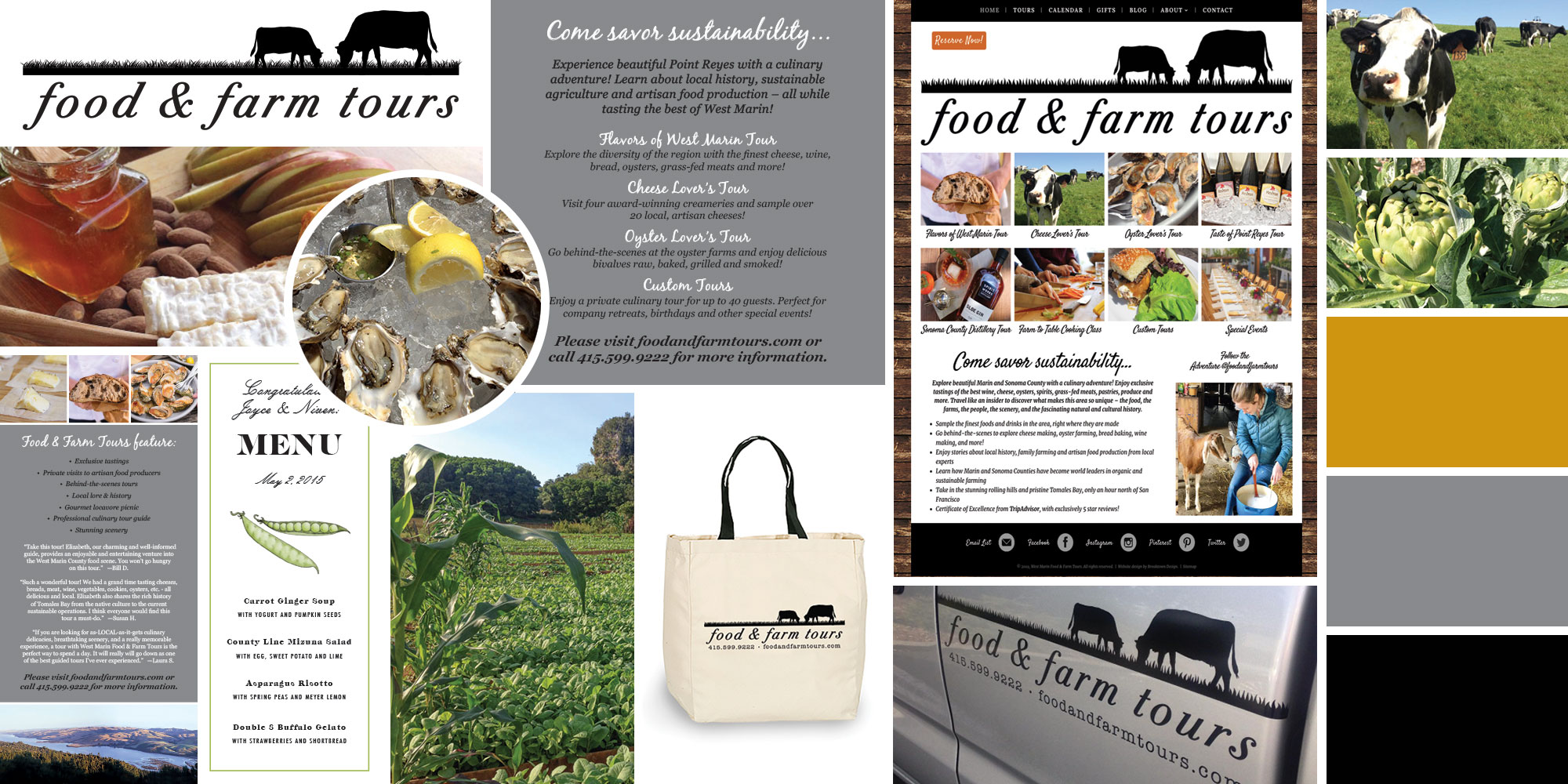 Food and Farm Tours project collage