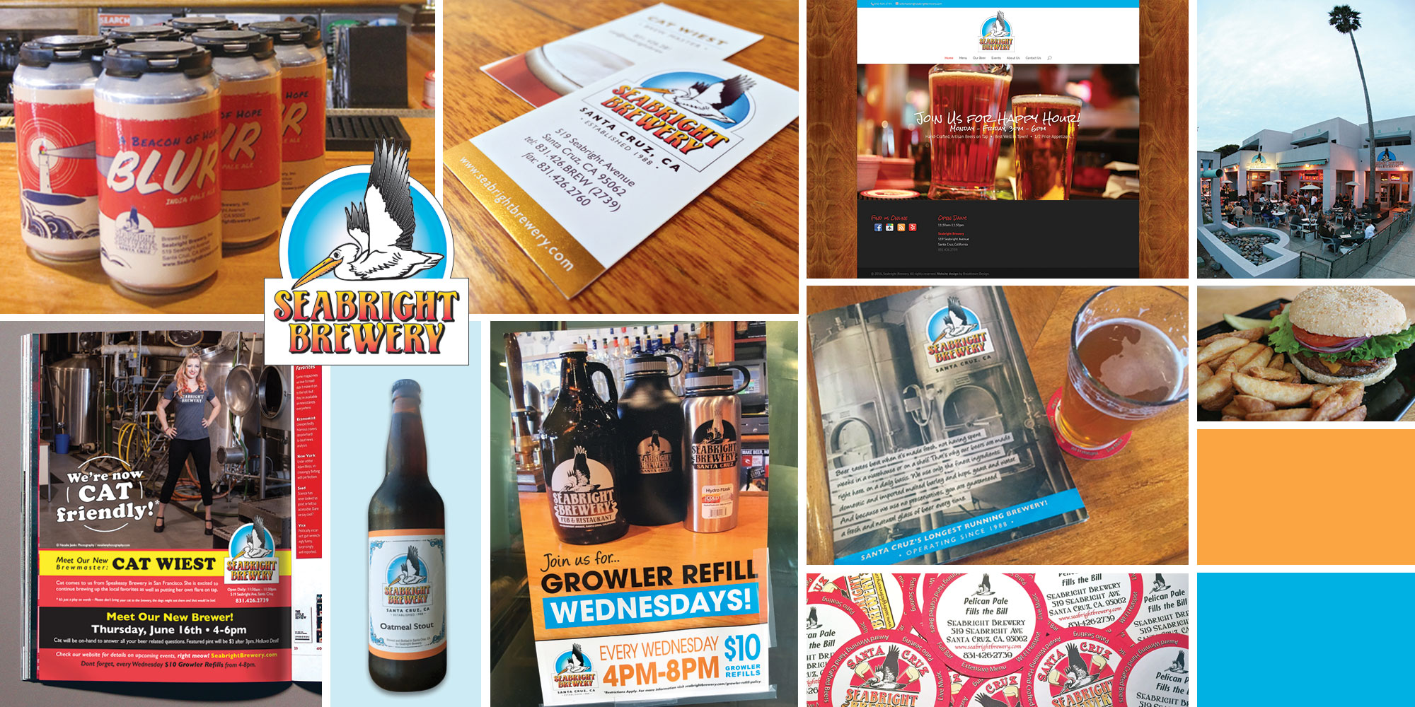 Seabright Brewery project collage